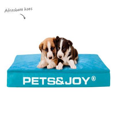 Hondenbed medium aquablauw